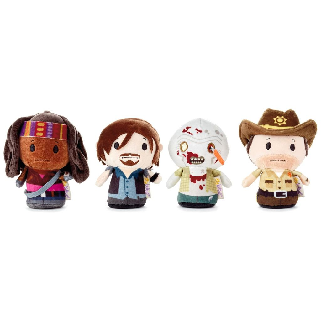 itty bittys® The Walking Dead Plush, Collectors Set of 4  | Hallmark Awesome Gifts