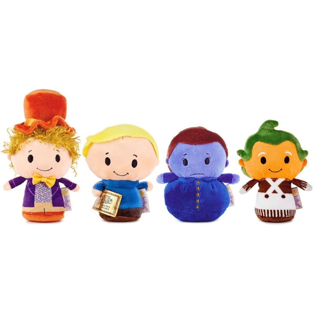 itty bittys® Willy Wonka™ Stuffed Animals, Collector Set of 4 | Hallmark Awesome Gifts