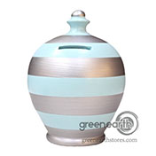 Terramundi Money Pot - Creative - Stripes - Silver & Baby Blue | Hallmark Awesome Gifts